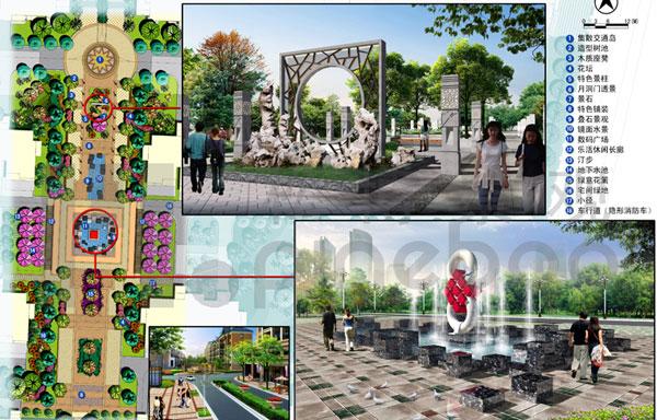 正阳.水岸城邦住宅小区乐活生态园平面图及效果图-连云港景观设计,